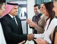 people shaking hand-translation and interpretation